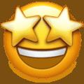 Image of a star-struck grinning emoji