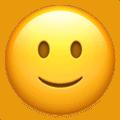 Image of a slightly smiling face emoji