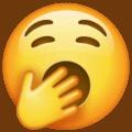 Image of a yawning face emoji