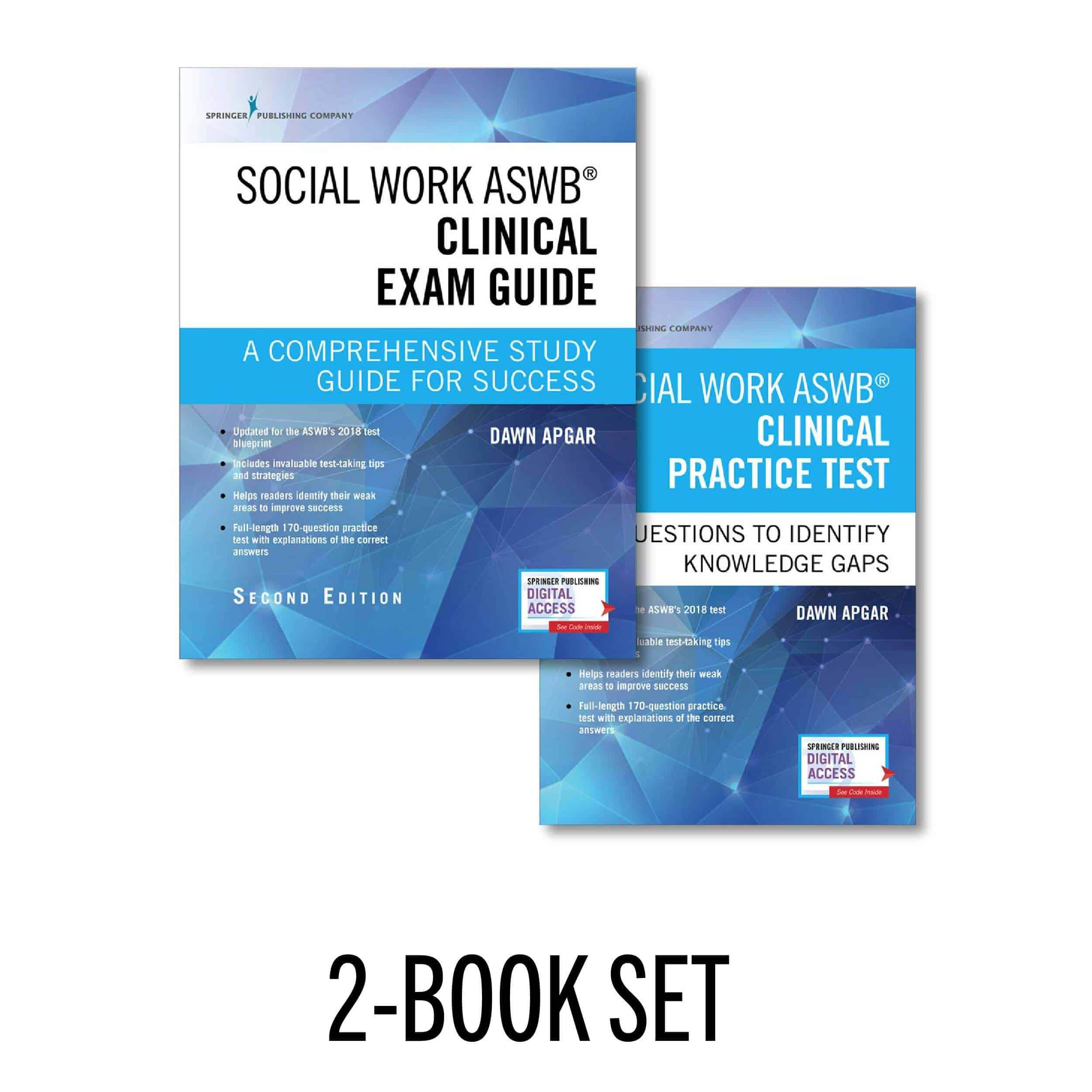 An Image of the Social Work Test Prep Book called the ASWB Clinical Exam Guide